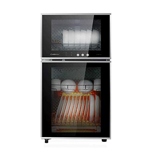 Multifuncional de desinfección del gabinete, domésticos y comerciales infrarrojos Vajilla Desinfección exterior, el panel de cristal templado, Desinfección de temperatura 125 ℃, doble capa de 65 L de