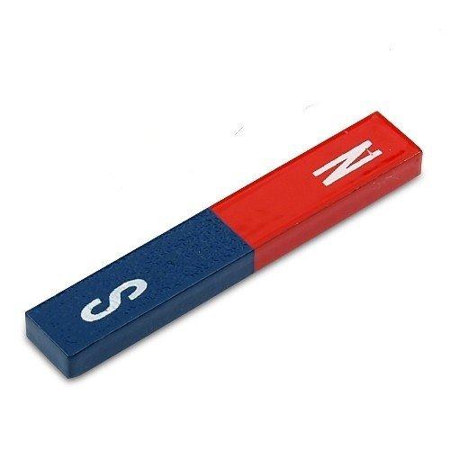 Quader Stabmagnet Schulmagnet AlNiCo 60 x 10 x 5mm - rot/blau - Max.Temp: 400°C - magnete aus Aluminium-Nickel-Kobalt - klassischsten aller Dauermagnete und traditionelle Schul- und Wissenschaftsmagnete
