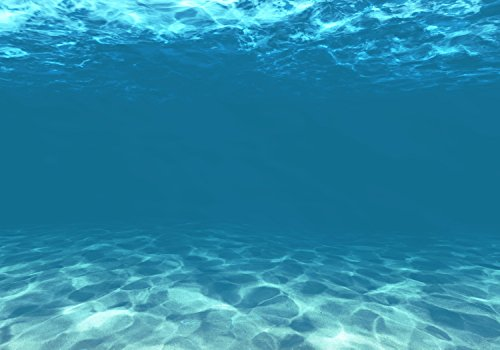 wandmotiv24 Fototapete Hellblau unter Wasser, XXL 400 x 280 cm - 8 Teile, Fototapeten, Wandbild, Motivtapeten, Vlies-Tapeten, Unterwasser, Blau, Meer M1053