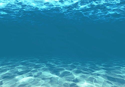 wandmotiv24 Fototapete Hellblau unter Wasser XXL 400 x 280 cm - 8 Teile Fototapeten, Wandbild, Motivtapeten, Vlies-Tapeten Unterwasser, Blau, Meer M1053