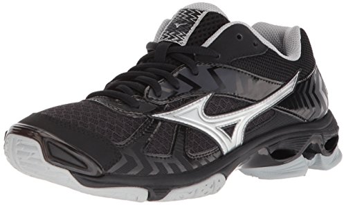 Mizuno Wave Bolt 7 Womens Black-Silver 13 Black/Silver