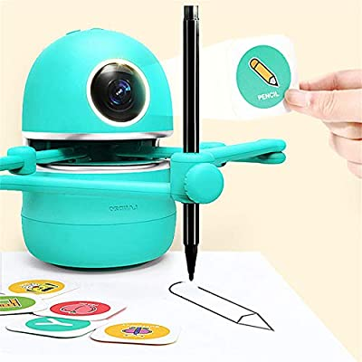 H HUKOER Learning Toy Robot,Drawing Robot for Kids 2-14,Intelligent Automatic Educational Robot Suit Draw Count Spell Math Home Learning Partner for Children