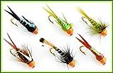 ARC Fishing Flies Magic Ultra Fliegenfischen/Fliegenfischen, fr 3, 6 oder 9 Fliegen, 6 X Nymph-F/B HOT Heads #12