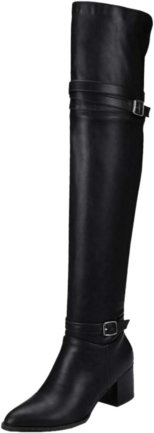 Women Fashion Thigh High Riding Boots Pull On