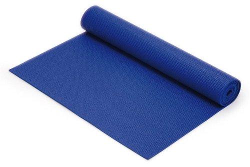 SISSEL Yoga Matte Gymnastikmatte Yogamatte Meditation blau 180 x 60 x 0,4 cm