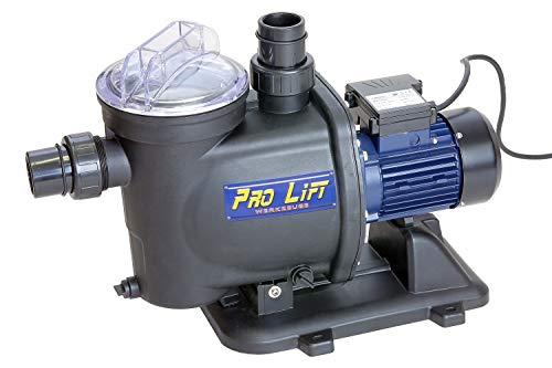 Pro-Lift-Werkzeuge Schwimmbadpumpe Wasserpumpe selbstansaugend 800W Filterpumpe 19000l/h Whirlpoolpumpe Kreiselpumpe 230V Klarwasserpumpe Pumpe mit Filter