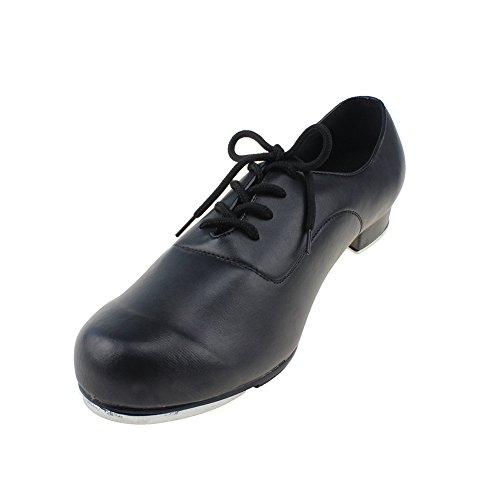 MSMAX Boys Flex Tap Dance Shoes Glossy Matte Little Kid 13M