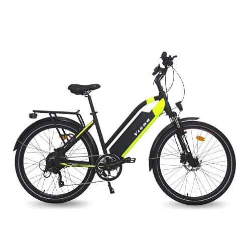 URBANBIKER vélo électrique VTC VIENA (Jaune 28'), Batterie Lithium-ION Cellules Samsung 840Wh (48V et 17,5Ah), Moteur 350W, 28 Pouces, Freins hydrauliques