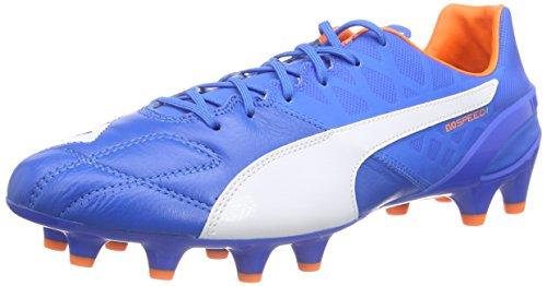 PUMA Herren Evospeed 1.4 LTH FG Fußballschuhe, Blau (Electric Blue Lemonade-White-orange Clown Fish 02), 45 EU