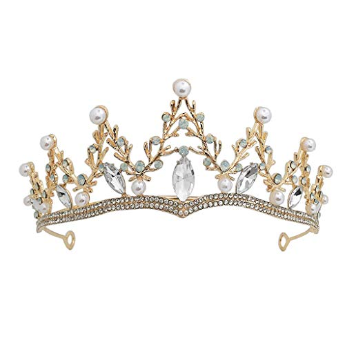 lijun Crown Rhinestone WeddingBaroque for Costume Party Hair Accessories with Gemstone