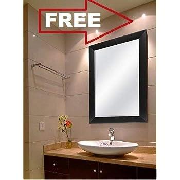 Creative Arts N Frame Sober Black Fiber Wood Wall Mirror || Size - 15 X 21 Inch || Solid Premium Black Water Resistant Fiber Wood Made || (Black, 1)