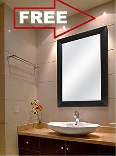 Creative Arts N Frame Sober Black Fiber Wood Wall Mirror || Size - 15 X 21 Inch || Solid Premium Black Water Resistant Synthetic Fiber Wood Made || (Black, 1)