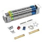 JINXM Morsettiere Elettriche Su Guida DIN UK-2.5B Kit di Morsetti di Classe Universale