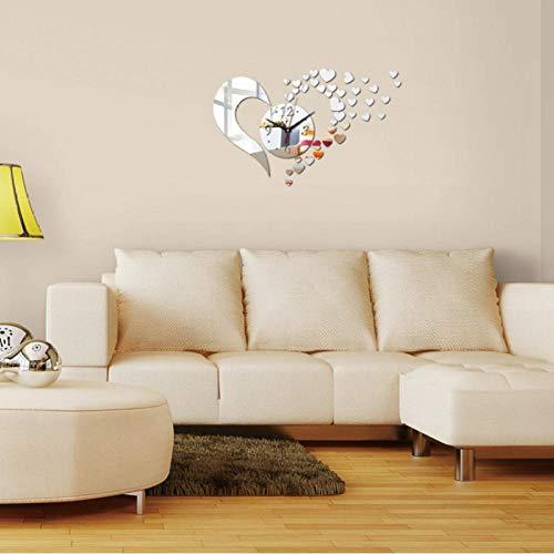 Wandklok Heart Art Modern Luxury Design Wandklok Muursticker Woonkamer Slaapkamer Decoratie