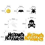 Kesote Konfetti Halloween Streudeko Party Glitter Tisch Deko Geist Spinne Kürbis Schädel Fledermaus (100g, ca. 5000 pcs) - 2
