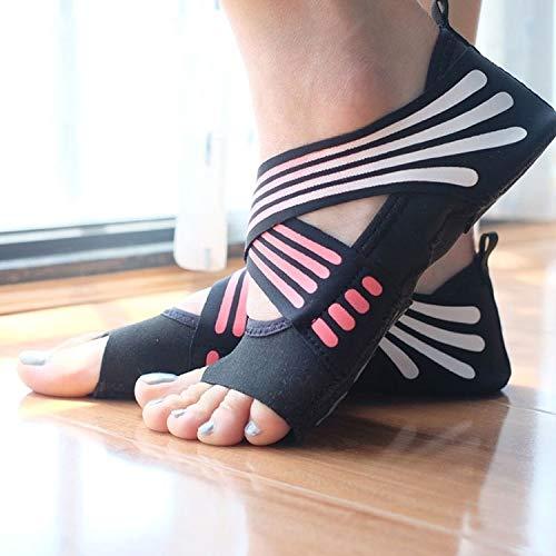 NANSHAN -1 Par De Calcetines Antideslizantes De Yoga Sin Deslizamiento Pilates Calcetines Ballet Yoga Pilates Pali Pali Zapatos, 225-230mm De Largo (Color : Rosado)