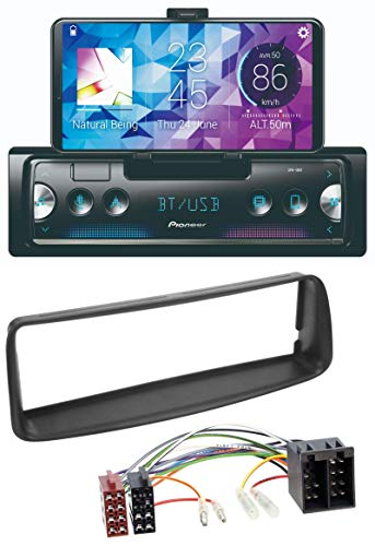 caraudio24 Pioneer SPH-10BT MP3 AUX Bluetooth USB Autoradio für Peugeot 206 (ab 1998)