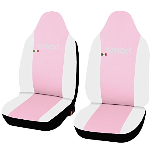 Lupex Shop smart.2S.EC Pink.BI stoelhoezen auto in kunstleer Roze Wit