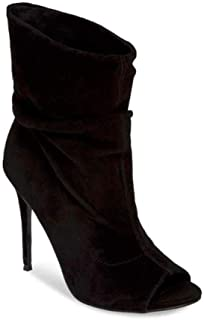 Steve Madden Womens Surrender Leather Peep Toe Ankle Fashion Boots