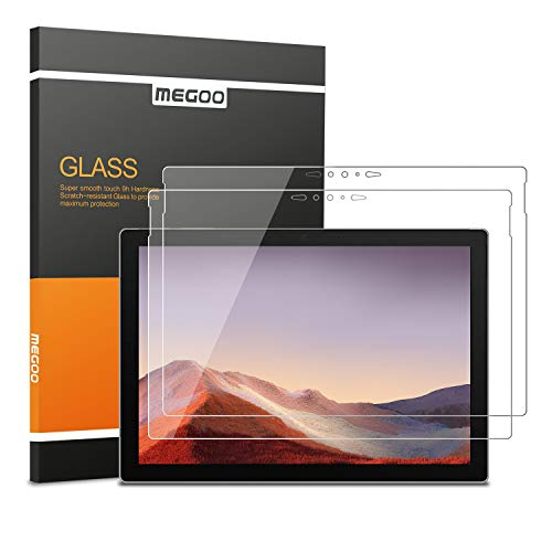 Megoo [2 Pack] Screen Protector for New Surface Pro 7, Ultra Clear/High Response/Tempered Glass, Compatible for Microsoft Surface Pro 7 12.3 Inch (2019 Release)