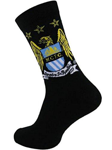 HDUK Mens Socks Herren Socken schwarz schwarz One size Gr. 39-45, Manchester City