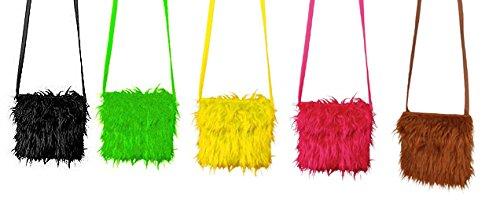 Orlob Plüschtasche Handtasche zum Hippie Kostüm Karneval Fasching grün