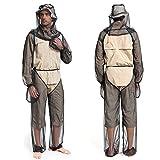WZ Al Aire Libre de Cuatro Piezas de Malla Anti-Mosquitos Ropa, Pesca Aventura en la Selva Salvaje contra Las picaduras de Mosquitos Guantes Traje Chaqueta y Pantalones Pesca,XL