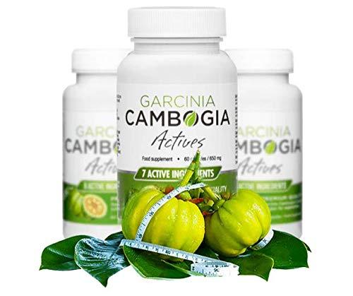 ✅GARCINIA CAMBOGIA ACTIVES - Premium prodotti dimagranti, sana perdita di peso e disintossicazione, efficace combustione dei grassi, bruciagrassi, soppressori dell'appetito, 60 capsule