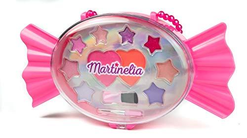 Martinelia Yummy Candy Makeup Palette Kids Makeup Set - 2 x Pink 2.37g, 4 x Lip Gloss 0.2g, 4 X Makeup Colors 0.68g, 2 x Brushes