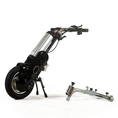 JINKEBIN Remolque manual de silla de ruedas eléctrico para minusválidos (color: marrón)