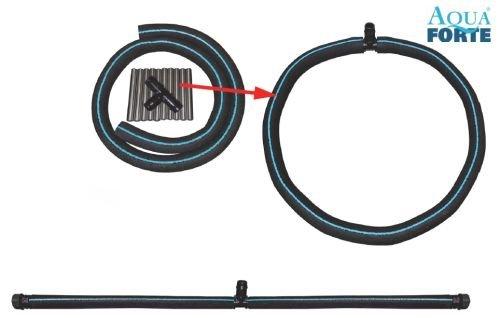 Eigenfertigung /Ø500 mm Bel/üfterring mit 19 mm T/ülle professioneller Gummi Bel/üfter Schlauch