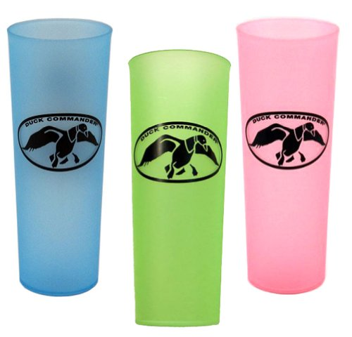 Set of 3 Duck Commander Tea Cups Green Pink and Blue Drinkware