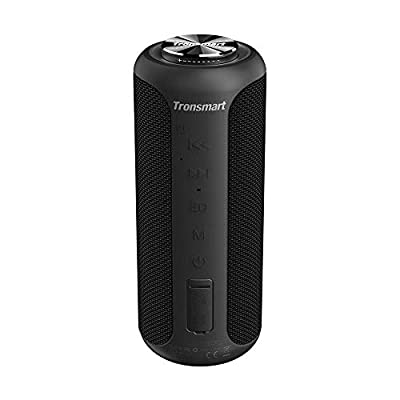 Bluetooth Speaker 5.0, Tronsmart T6 Plus 【Upgraded Edition】40W Portable Outdoor Wireless Speaker With Tri-Bass Effects, 6600mAh Powerbank, IPX6 Waterproof, 15 Hrs Playtime, Voice Assistant,NFC from Tronsmart