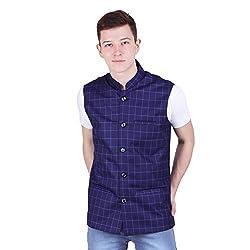 River Hill Mens Tweed Cotton Nehru Jacket - Waistcoat
