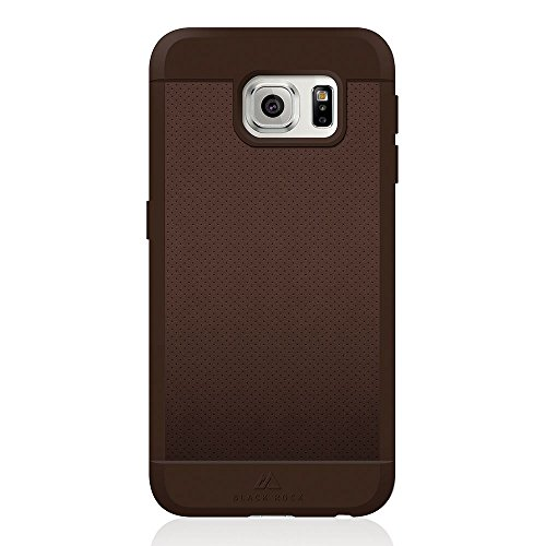 Custodia in vera pelle nera per Samsung Galaxy S6 - Mesh Brown