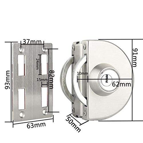 Stalen glazen deurslot, enkele deur, gratis perforeren, dubbele deur u-Lock, plat frame zonder drukknop A