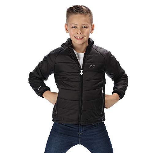 Regatta Kinder 'Junior Freezeway' Lightweight Insulated Jacket Steppjacken, Schwarz, M (9-10)