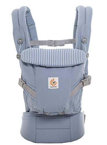 ERGObaby Baby Carrier for Newborn to Toddler (3.2 up to 20 kg), Azure Blue Adapt 3-Position Ergonomic Carriers Front Back