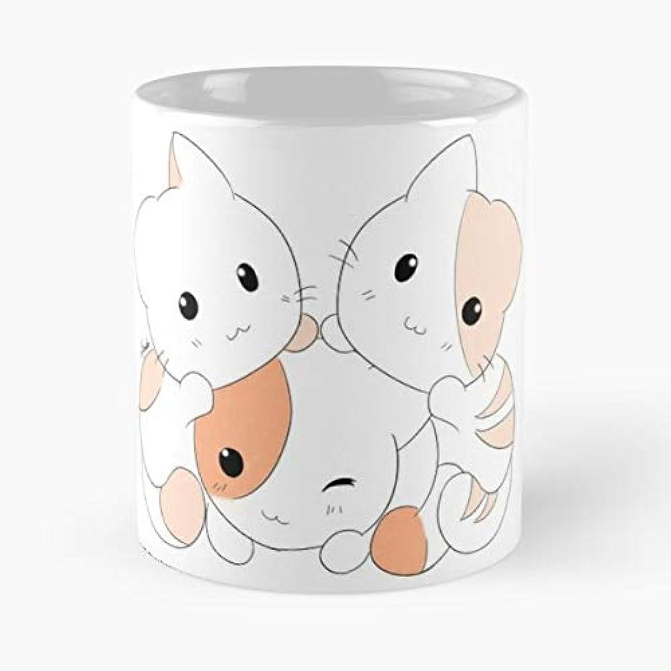 Cat Cats Neko Cute -funny Gifts For Men And Women Gift Coffee Mug Tea Cup White-11 Oz.