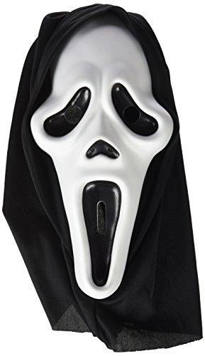 Rubies- Mascara scream con capucha, Talla única (Rubie's
