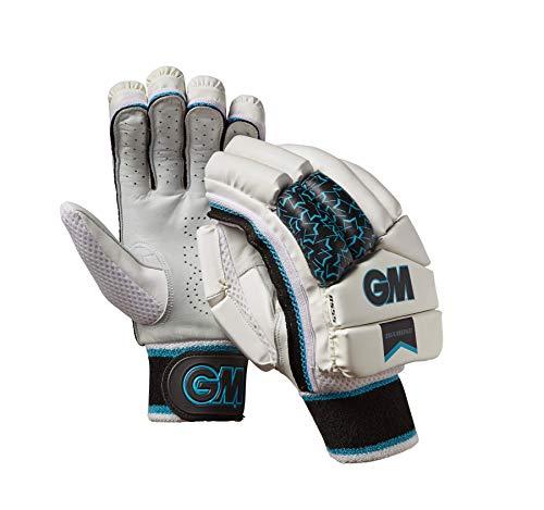 Gunn & Moore Unisex-Kinder-Schlaghandschuhe, Diamant, Linke Hand, Weiß/Silber/Schwarz/Blau, Jugendliche