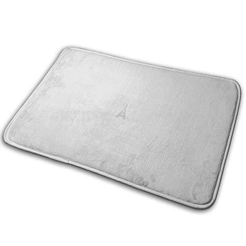 FULIYA Felpudo antideslizante, superabsorbente, ideal para puerta de baño y dormitorio, tamaño pequeño 40 x 60 cm, Wi-Fi, minimalista, color gris