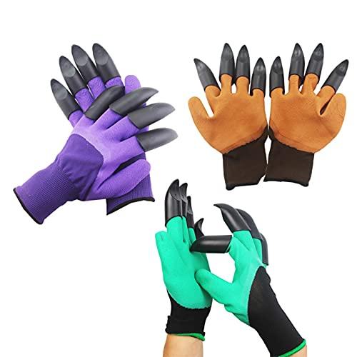 3 Paar Paw ABS plastic rubberen tuinhandschoenen, heren en dames tuinieren graven planten Duurzaam waterdicht werkhandschoenen Outdoor heren en dames