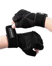 FREE SOLDIER Gymhandskar träningshandskar med fullt handledsstöd andningsbara tyngdlyftningshandskar halkfria palmskydd fitnesshandskar för män och kvinnor