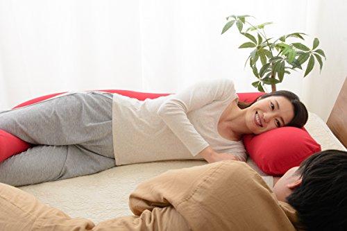 エムール包まれだきまくら『mochimochi』マイクロビーズクッション抱き枕日本製モスグリーン