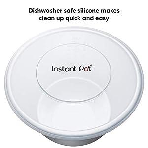 Instant Pot IP SS Silicone Lid Cover, 6 Quart, Transparent White