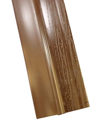 Single Car Garage Door Stop Sides and Top 2 Inch Weather Seal Any Size (Brown)