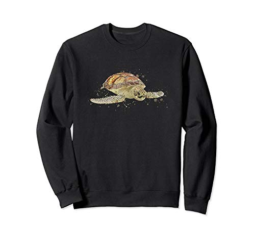 Creativee Sea Turt.Le Sweatshirt -Front Print Sweatshirt for Men And Women.