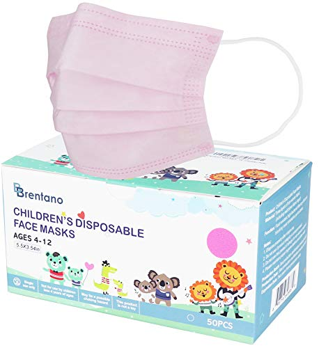 B BRENTANO Non-Medical Personal Protective Equipment Disposable Face Mask (Children, Pink)