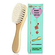 Molylove Baby-Haarbürste mit Holzgriff und superweichen Borsten Natur-Pur